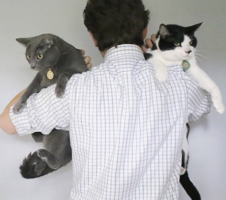 VCA Community Partners Picture of Man with Two Cats