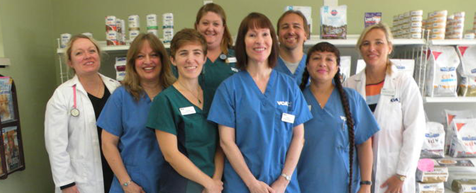 Homepage Team Picture of  VCA College Park Ana Brook Animal Hospital