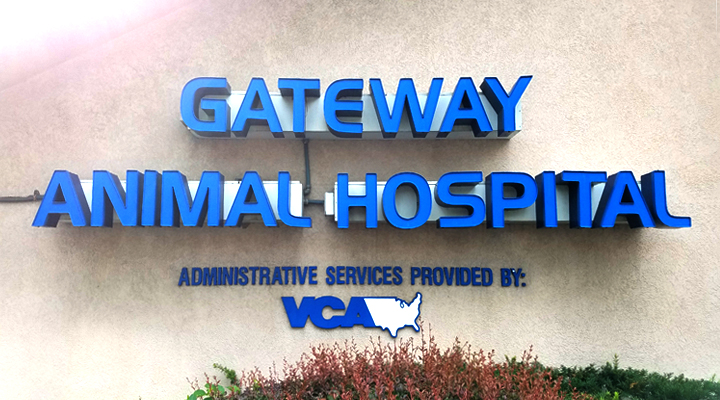VCA Gateway Animal Hospital Building Sign
