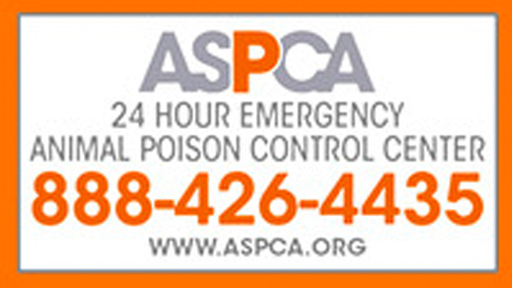 ASPCA 24 Hour Emergency Animal Poison Control Center