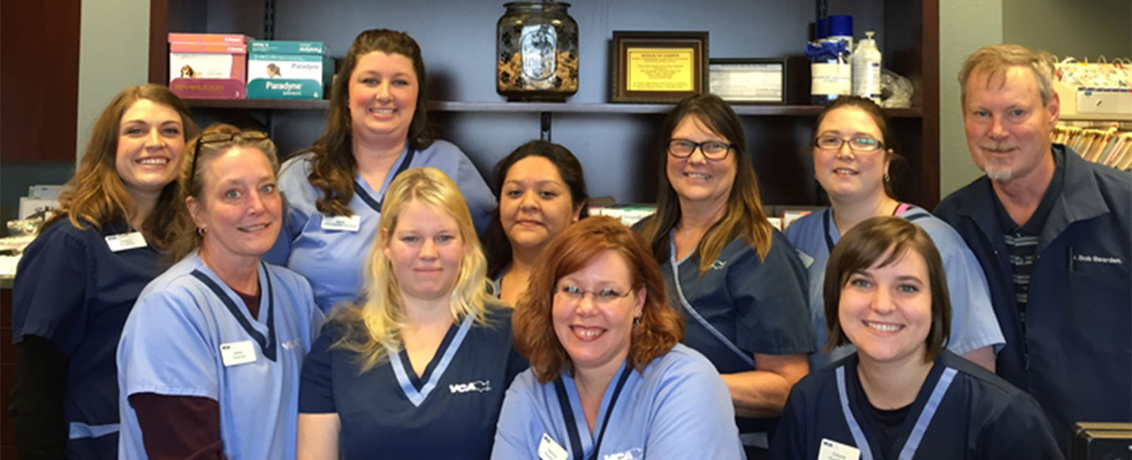 Homepage Team Picture of VCA Mercedes Place Animal Hospital