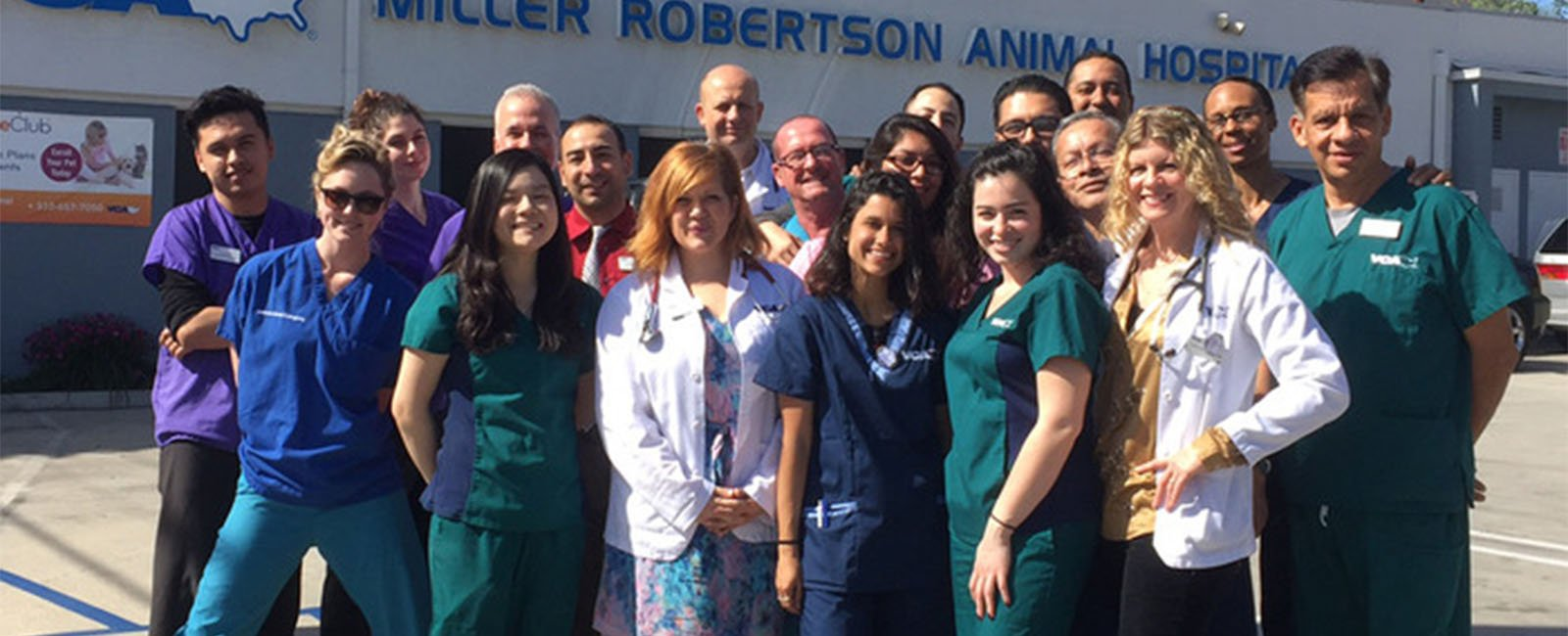 Homepage Team Picture of VCA Miller Robertson Animal Hospital
