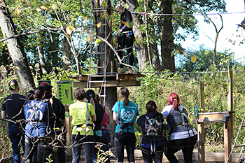 VCA Misener-Holley practicing team-building skills at GoApe outing