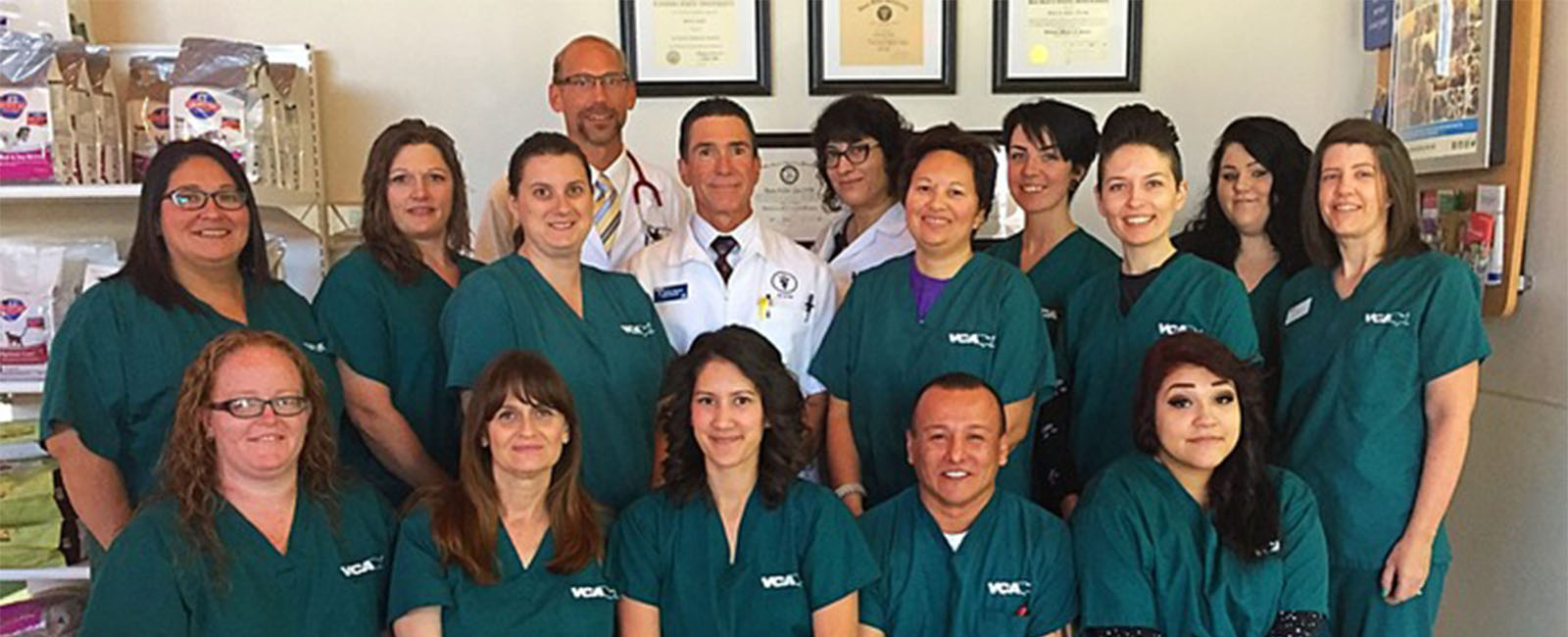 Homepage Team Picture of VCA Nellis Animal Hospital
