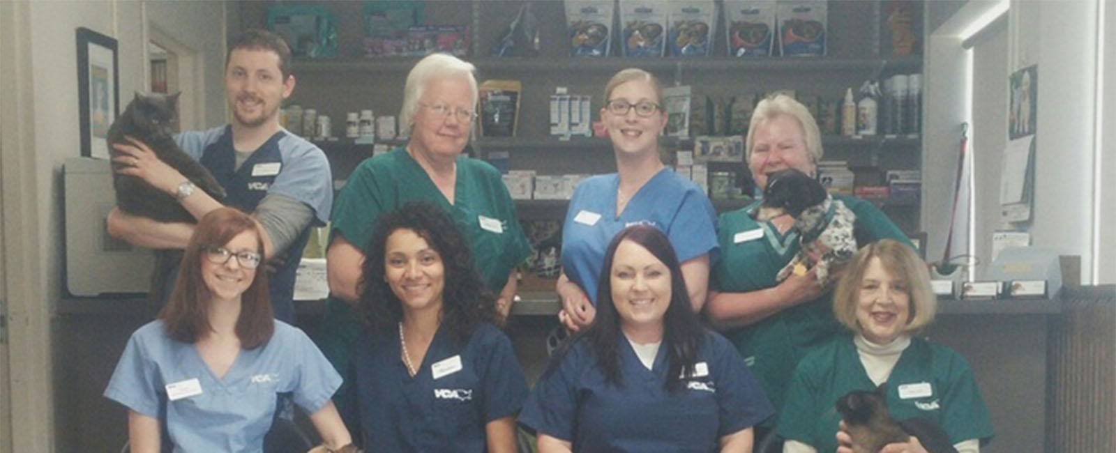 Homepage Team Picture of VCA Shaker Road Animal Hospital