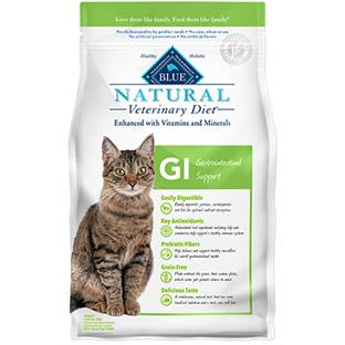 BLUE Natural Veterinary Diet® GI Gastrointestinal Support for Cats - Dry