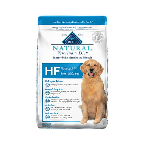 BLUE Natural Veterinary Diet® HF Hydrolyzed Salmon for Food Intolerance for Dogs - Dry