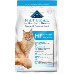 BLUE Natural Veterinary Diet® HF Hydrolyzed Salmon for Food Intolerance for Cats - Dry