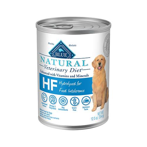 BLUE Natural Veterinary Diet® HF Hydrolyzed Salmon for Food Intolerance for Dogs - Canned
