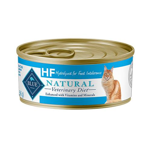 BLUE Natural Veterinary Diet® HF Hydrolyzed Salmon for Food Intolerance for Cats - Canned