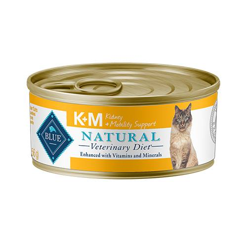 BLUE Natural Veterinary Diet K+M Kidney + Mobility Support For Cats - Canned
