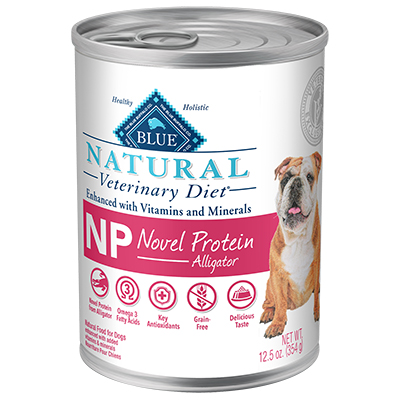BLUE Natural Veterinary Diet® NP Novel Protein Alligator for Dogs - Canned