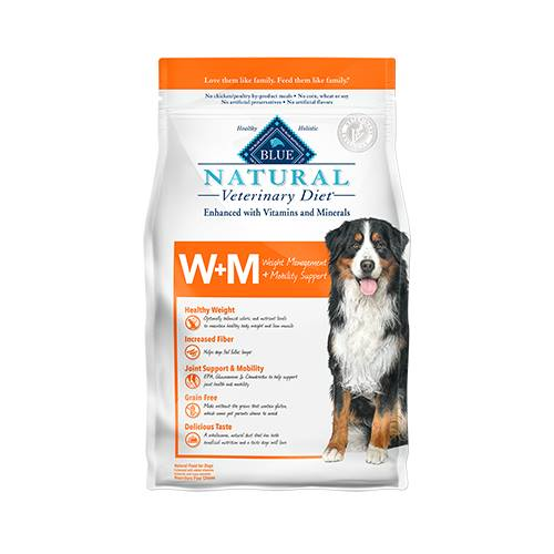 BLUE Natural Veterinary Diet® W+M Weight Management + Mobility Support for Dogs - Dry