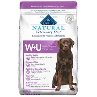 BLUE Natural Veterinary Diet® W+U Weight Management + Urinary Care for Dogs - Dry