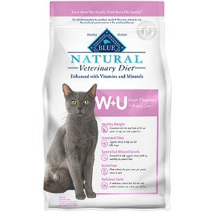 BLUE Natural Veterinary Diet® W+U Weight Management + Urinary Care for Cats - Dry