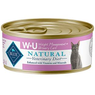 BLUE Natural Veterinary Diet® W+U Weight Management + Urinary Care for Cats - Canned