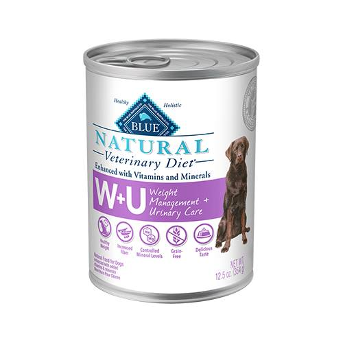 BLUE Natural Veterinary Diet® W+U Weight Management + Urinary Care for Dogs - Canned