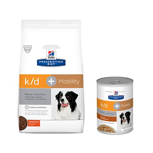 Hill's® Prescription Diet® k/d® + Mobility Canine Chicken & Vegetable Stew - Canned