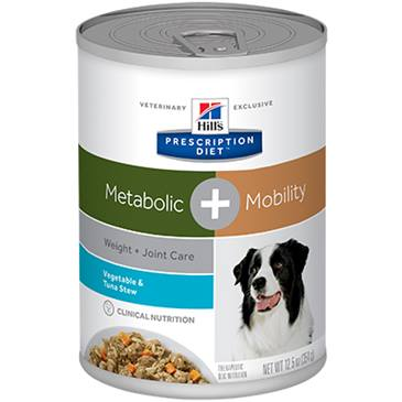 Hill's® Prescription Diet® Metabolic + Mobility Canine Vegetable & Tuna Stew - Canned