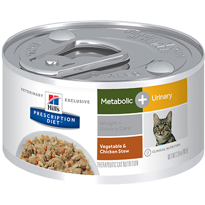 Hill's® Prescription Diet® Metabolic + Urinary Feline Vegetable & Chicken Stew - Canned