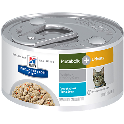 Hill's® Prescription Diet® Metabolic + Urinary Feline Vegetable & Tuna Stew - Canned