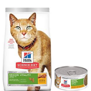 Hill's® Science Diet® Youthful Vitality Adult 7+ Chicken & Vegetable Entrée Cat Food - Canned
