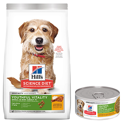 Hill's® Science Diet® Youthful Vitality Adult 7+ Small & Toy Breed Chicken & Rice Recipe Dog Food - Dry