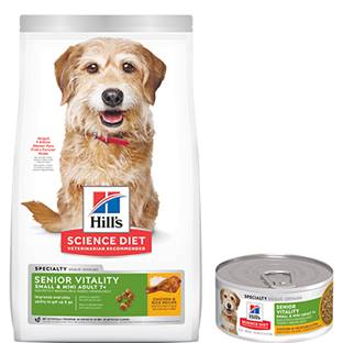 Hill's® Science Diet® Youthful Vitality Adult 7+ Small & Toy Breed Chicken & Vegetable Stew Dog Food - Canned