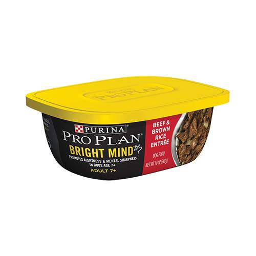 Purina® Pro Plan® Bright Mind™ Adult 7+ Beef & Brown Rice Entrée