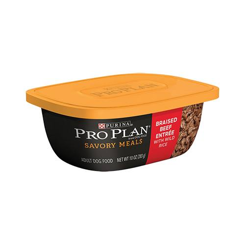 Purina® Pro Plan® Savor® Braised Beef Entrée with Wild Rice Tub