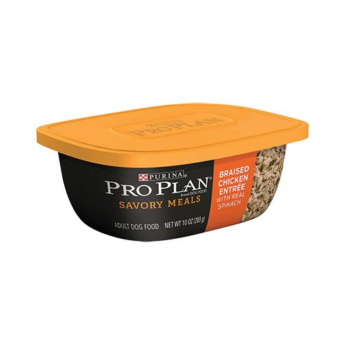 Purina® Pro Plan® Savor® Braised Chicken Entrée with Real Spinach Tub