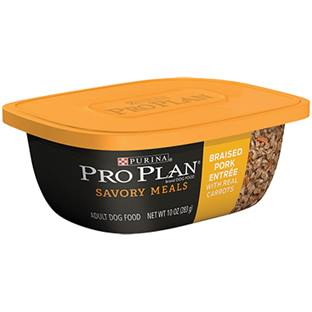 Purina® Pro Plan® Savor® Braised Pork Entrée with Real Sweet Potatoes Tub