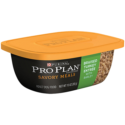 Purina® Pro Plan® Savor® Braised Turkey Entrée with Barley Tub