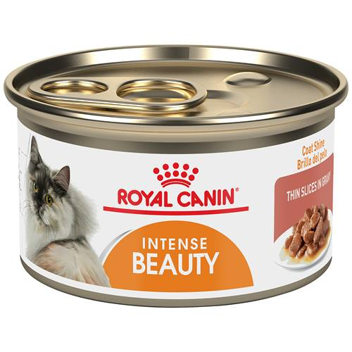 ROYAL CANIN® FELINE CARE NUTRITION™ Intense Beauty thin slices in gravy canned cat food
