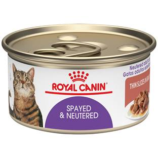 ROYAL CANIN® Feline Health Nutrition™ Spayed/Neutered thin slices in gravy canned cat food