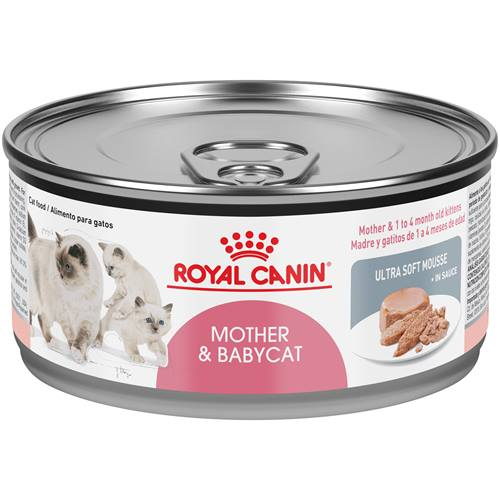 ROYAL CANIN® Mother & Babycat Ultra-Soft Mousse in Sauce Wet Cat Food for New Kittens and Nursing or Pregnant Mother Cats