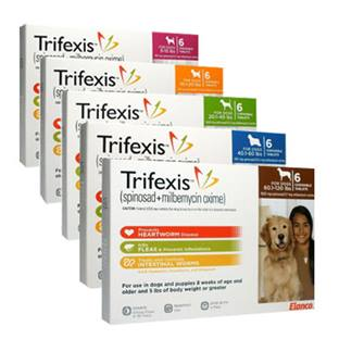 Trifexis® (spinosad + milbemycin oxime) for dogs